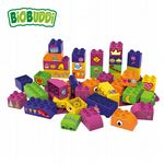 BiOBUDDi - Educational blocks with baseplate (Purple) - Eco Friendly Block Set - 40 Blocks